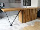 barra cocina madera